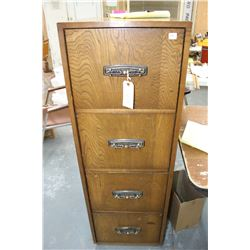 4 Drawer Wooden Letter/Legal Filing Cabinet - Good Condition
