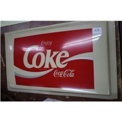 Plastic Coke Sign Face