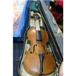Old Violin with Case