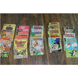 16 - 25¢, 30¢, 35¢ and 40¢ Comic Books