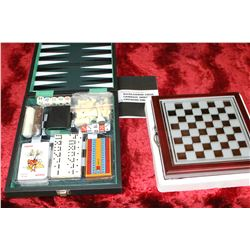 2 Boxes of Games - Chess, Checkers, Backgammon & Yahtzee (some look new)