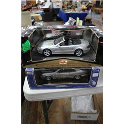 Die Cast Mercedes Benz SL (1:18 Scale) & Die Cast Mercedes Benz CLK (1:18 Scale)