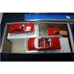 3 Die Cast Collector Cars - '54 Chevrolet Bel Air Convertible; '64 Ford Mustang & '55 Chevy Step sid