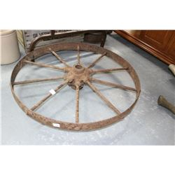 Vintage Metal Implement Wheel