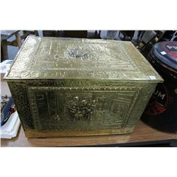 Brass Metal Covered Storage Box