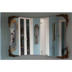 Large Ornately Framed Rectangular Mirror