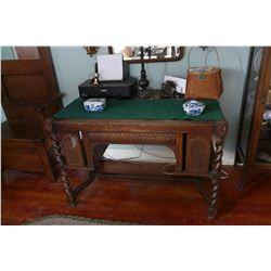Barley Twist & Wicker Library/Parlor Table