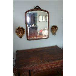 Beveled Dresser Mirror - Converted to a Wall Mirror