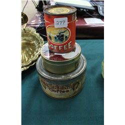 3 Tins - Folgers Coffee, ButterNut Coffee & a Royalty Tin
