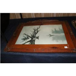 Wooden Framed Lake Picture