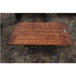 Lawn Furniture - Coffee Table with Metal Base