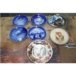 7 Collector Plates (Copenhagen, Hummel & Royal Albert)