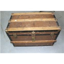 Small Brown Trunk (Metal Top - Wooden Sides)