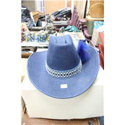 Blue Denim Cowboy Hat - Approx. Size 7