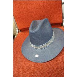 Blue Denim Hat - Size 6 7/8