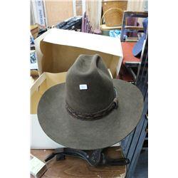 Brown Felt Cowboy Hat - Size 6 3/4