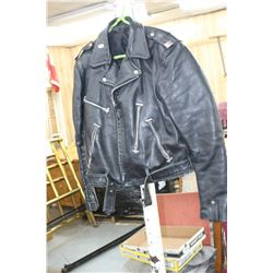 Black Leather Motorcycle Jacket - Not New