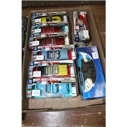 Flat of (8) Die Cast 'City Cruiser Collection' cars (7 - 1:43  & 1 - 1:32 Scale) - Buick Century, 19