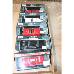 5 Motor Max 'American Classics' Die Cast & Plastic Collectible Cars - 1949 Mercury Coupe Fire Chief;