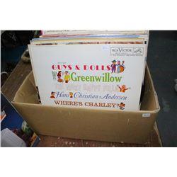 Box of 33 rpm Albums - My Fair Lady; Ukrainian Carols; Peter Paul & Mary; Folk Songs, etc.