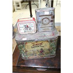 Jaya' Garden Tea Tin; Repeater Tobacco Tin & Tin - Made in U.S.A.
