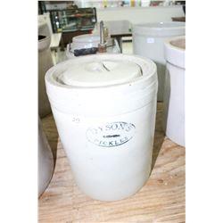 Dyson's 1 Gallon Pickle Crock - with a Lid