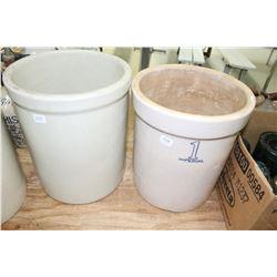1 Gallon Imperial Crock & 1 Miscellaneous Crock