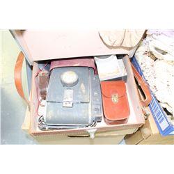 Polaroid Case w/Assorted Cameras