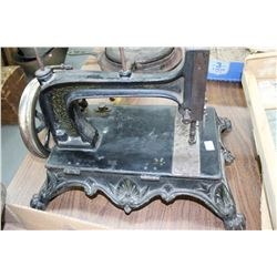 Grover & Baker Cast Sewing Machine - S/N 212471 - Circa 1868 - Hand Crank - Bullet Bobbin