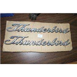 2 Metal Thunderbird Car Emblems