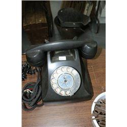 Black Desk Style Dial Telephone - Etelco - England