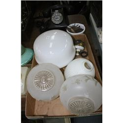 Flat w/Assorted Ceiling Light & Lamp Shades and a Multi-Socket Unit