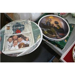 6 Collector Plates - Avon and Knowles