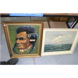 2 Framed Oil Paintings