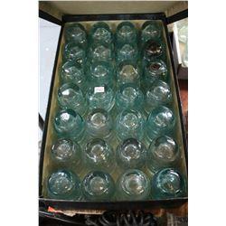 Box w/28 Aqua Canada Insulators (Medium Sized)