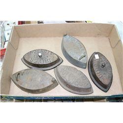 Flat w/5 Sad Irons (No Handles)