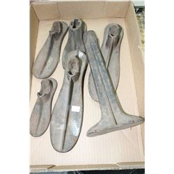 Flat w/5 Shoe Lasts (Various Sizes) and a Stand