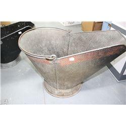 Coal Skuttle - Large Galvanized
