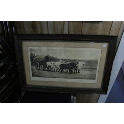 Framed Picture 'Wagon Team' by Rosa Bonbeur - No. 1313