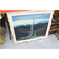 Framed Abstract Landscape Oil Painting