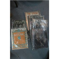 Flat w/6 'The Etude' Magazines - Dated 1912 & 1914