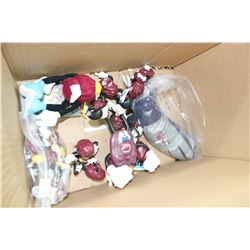 Box w/California Raisin Toys, etc.