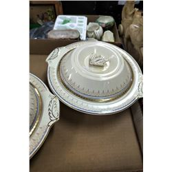 2 Serving Bowls w/Lids - Burleigh, Made in England