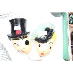 Mr. & Mrs. Peanut Pot Holder Hangers (2 pcs)
