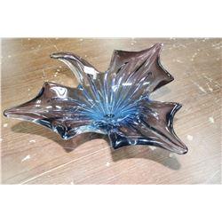 Heavy Decorator Glass Dish