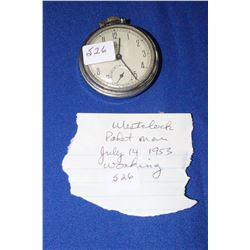 Pocket Watch - West Clock Pocket Man dated July 14th, 1953 - Working Condition