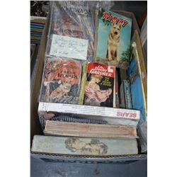 Box of Old Life Magazines; Books; etc.