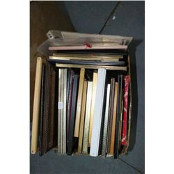 Box of Several Picture Frames - Some with Pictures