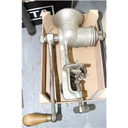 Meat Grinder - Patent 1899 - with Attachments