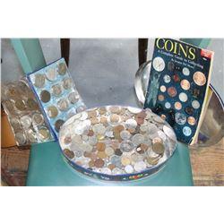 Tin with Tokens & a Coin Book